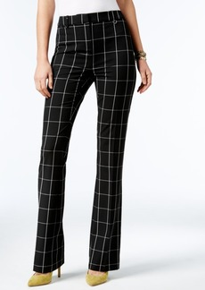 Alfani Plaid Tummy Control Trousers, Only at Macy's