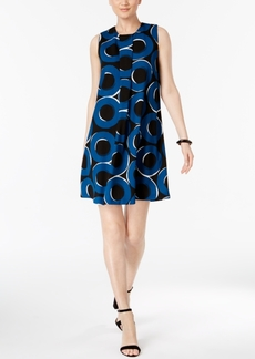 Alfani Pleat-Front A-Line Dress, Only at Macy's