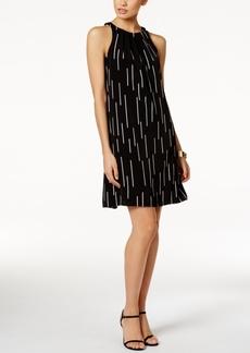 Alfani Pleat-Neck Dress, Only at Macy's