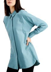 Alfani Pleated-Back Oversized Shirt, Created for Macy's