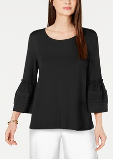 Alfani Pleated Bell-Sleeve Top, Created for Macy's