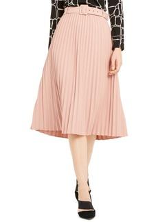 Alfani Pleated Belted Midi Skirt, Created For Macy's