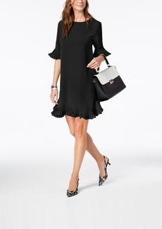 Alfani Pleated Flounce Dress, Created for Macy's