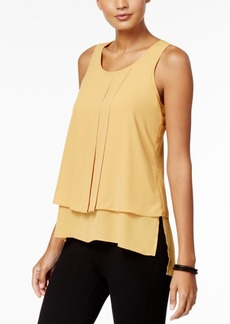 Alfani Pleated High-Low Top, Created for Macy's