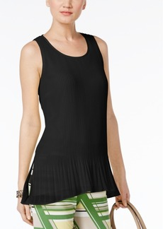 Alfani Pleated Peplum Top, Only at Macy's