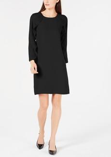 Alfani Pleated Ruffle Sleeve Dress, Created for Macy's