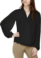 Alfani Pleated Surplice Top, Created for Macy's