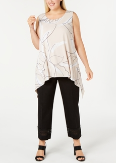 Alfani Plus Size Abstract-Print Tunic, Created For Macy's