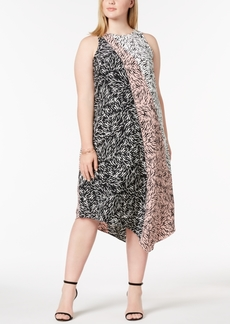 Alfani Plus Size Asymmetrical-Hem Midi Dress, Created for Macy's
