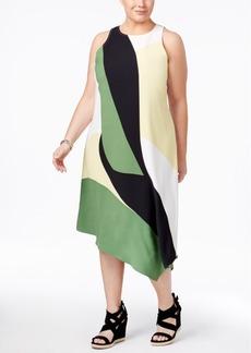 Alfani Plus Size Asymmetrical Midi Dress, Only at Macy's