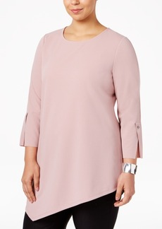 Alfani Plus Size Asymmetrical Top, Only at Macy's