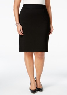 Alfani Plus Size Classic Pencil Skirt, Only at Macy's