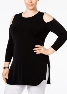 Alfani Plus Size Cold-Shoulder Top, Only at Macy's