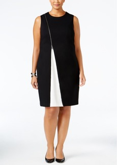 Alfani Plus Size Colorblocked Sheath Dress, Only at Macy's