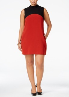 Alfani Plus Size Colorblocked Shift Dress, Only at Macy's