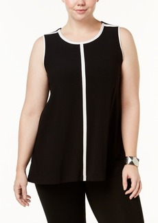Alfani Plus Size Colorblocked Top, Created for Macy's