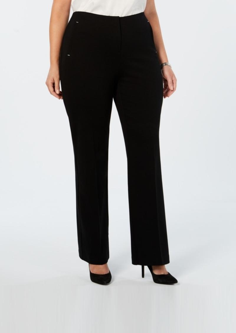 Alfani Plus Size Comfort-Waist Pants, Created for Macy's