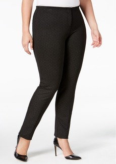 Alfani Plus Size Comfort-Waist Printed Skinny Pants, Only at Macy's