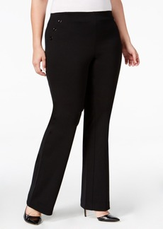 Alfani Plus Size Comfort-Waist Sailor Pants, Only at Macy's
