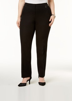 Alfani Plus Size Comfort-Waist Slim-Leg Pants, Created for Macy's