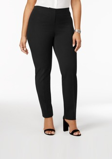 Alfani Plus Size Hollywood Comfort Waistband Skinny Pants, Created for Macy's