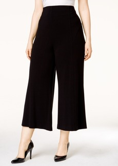 Alfani Plus Size Crepe Pull-On Culotte Pants, Only at Macy's