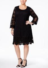 Alfani Plus Size Crochet Shift Dress, Created for Macy's