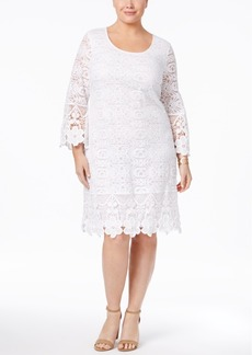 Alfani Plus Size Crochet Shift Dress, Only at Macy's
