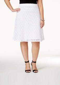 Alfani Plus Size Crocheted A-Line Skirt, Only at Macy's