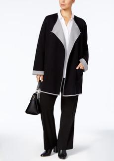 Alfani Plus Size Drape-Front Cardigan, Created for Macy's