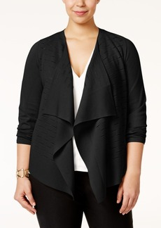 Alfani Plus Size Draped Cardigan, Only at Macy's
