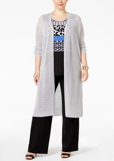 Alfani Plus Size Duster Cardigan, Only at Macy's
