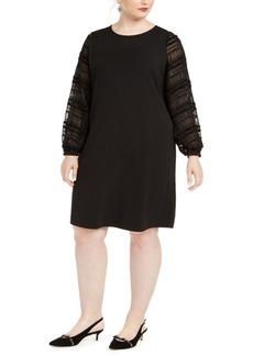 Alfani Plus Size Embellished-Sleeve Shift Dress, Created For Macy's