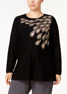 Alfani Plus Size Embellished Swing Top, Created for Macy's