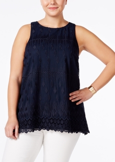 Alfani Plus Size Embroidered Shell, Only at Macy's