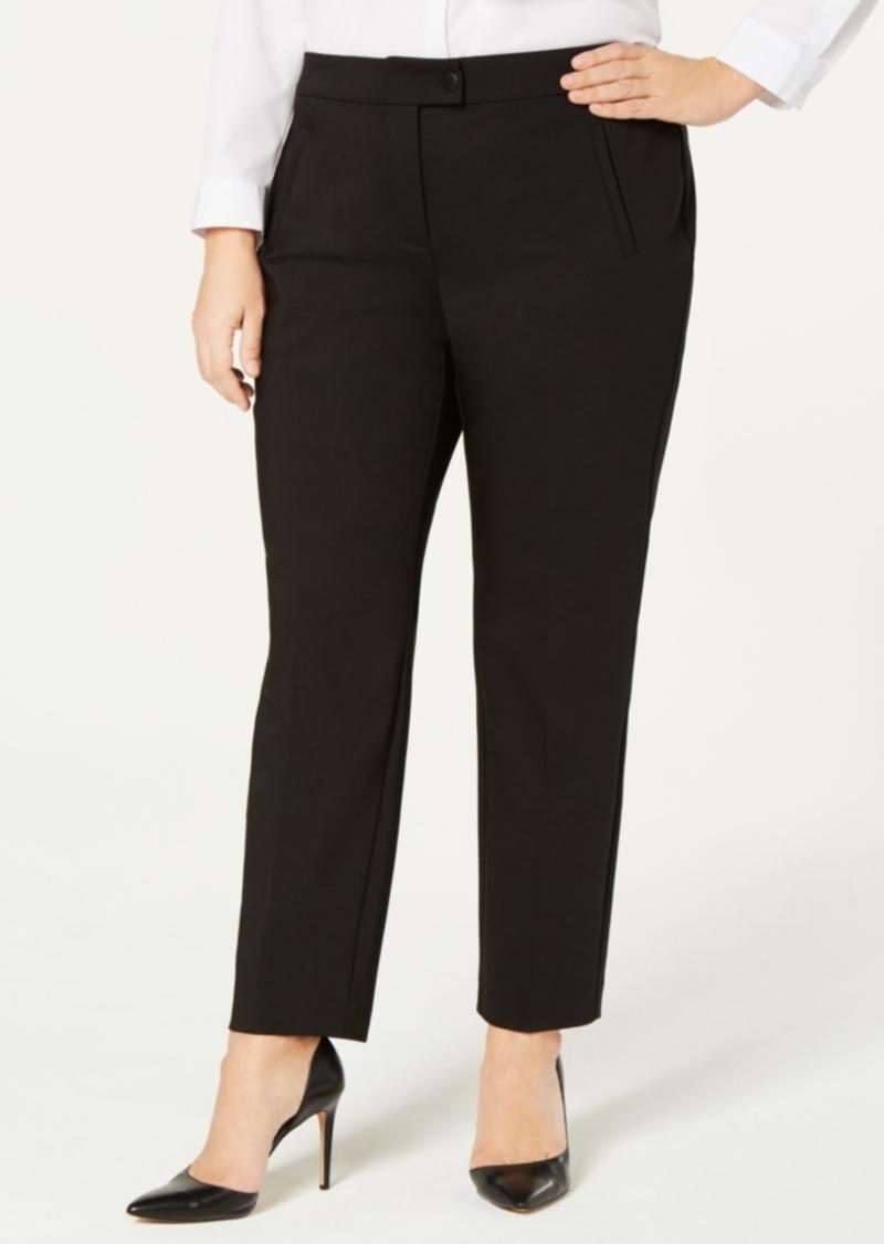Alfani Plus Size Enamel-Snap Pants, Created for Macy's