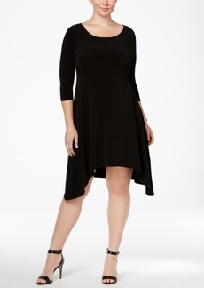 Alfani Plus Size Fit & Flare Knit Dress, Only at Macy's
