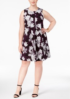 Alfani Plus Size Floral-Print A-Line Dress, Created for Macy's