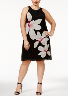 Alfani Plus Size Floral-Print A-Line Dress, Only at Macy's