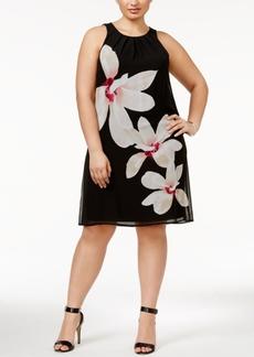 Alfani Plus Size Floral-Print A-Line Dress, Only at Macy's