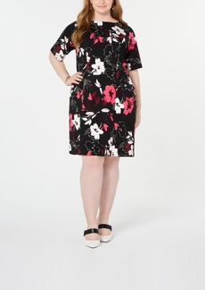 Alfani Plus Size Floral-Print Sheath Dress, Created for Macy's