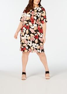 Alfani Plus Size Floral-Print Sheath Dress, Created for Macy's