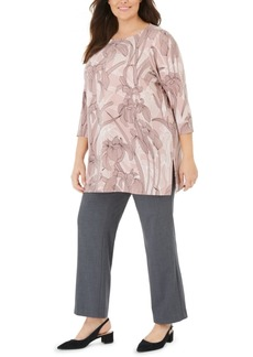 Alfani Plus Size Floral-Print Tunic, Created For Macy's