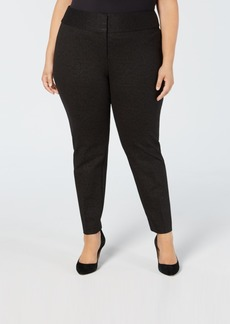 Alfani Plus Size Foil-Print Straight-Leg Pants, Created for Macy's