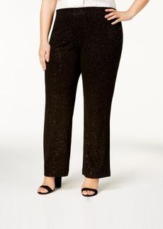 Alfani Plus Size Glitter Wide-Leg Pants, Created for Macy's