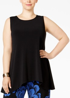 Alfani Plus Size Handkerchief-Hem Swing Top, Only at Macy's