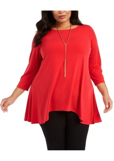 Alfani Plus Size Handkerchief-Hem Top, Created for Macy's