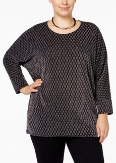 Alfani Plus Size High-Low Dolman-Sleeve Top, Only at Macy's