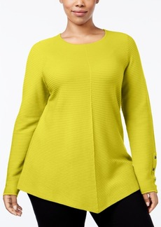 Alfani Plus Size High-Low Sweater, Only at Macy's