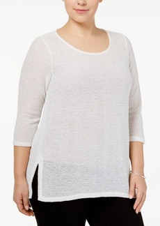 Alfani Plus Size High-Low Top, Only at Macy's